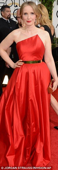 Golden Globes 2014 Red Carpet Dresses: Julie Delpy in Romona Keveza