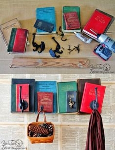Designs 2018 40 Creative Decoration Ideas With Books Book Projects, Craft Projects, Craft Ideas, Paper Crafts, Diy Crafts, Recycle Crafts, Book Crafts, Multipurpose Furniture, Ideas Hogar