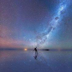 Dancing among the stars on Salar de Uyuni, Bolivia