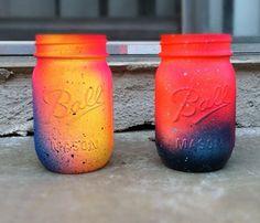 Neon Ombre Jars