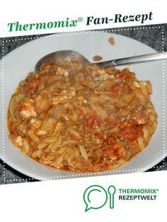 Griechischer Hackauflauf mit Kritharaki Nudeln von bodie37. Ein Thermomix ® Rezept aus der Kategorie Hauptgerichte mit Fleisch auf www.rezeptwelt.de, der Thermomix ® Community.
