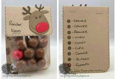 Reindeer noses for a Christmas treat