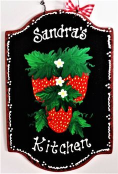 Check out our strawberry sign selection for the very best in unique or custom, handmade pieces from our signs shops. Country Wood Crafts, Wooden Crafts, Strawberry Pictures, Strawberry Kitchen, Strawberry Farm, Horse Christmas Ornament, Strawberry Decorations, Equestrian Decor, Wooden Door Hangers