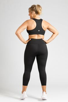 Essential Length Tight in Black — Active Truth – Active Truth™ Sleek Look, Black 7, Fitness Fashion, Perfect Fit, Active Wear, Tights, Essentials, The Incredibles, Pockets