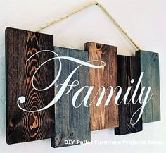 Handmade Home Decor Pallet Wall Decor, Wood Pallet Signs, Diy Pallet Furniture, Diy Pallet Projects, Pallet Ideas, Furniture Projects, Wood Pallets, Woodworking Projects, Furniture Stores