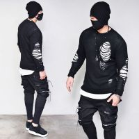 Dual Zip Big Cargo Webbing-Sweatpants 333 - GUYLOOK