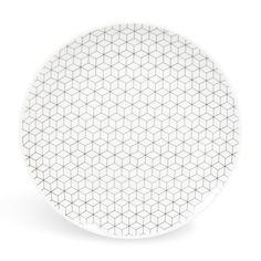 Maisons du Monde - Plato de postre de porcelana D 19 cm GRAPHIQUE - 21'54€/6 uds