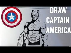 How to Draw Captain America - Easy Things To Draw - YouTube