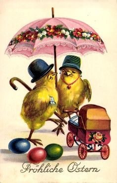 Old Easter Post Card — Fröhliche Ostern, 1939 (545x850)