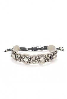 Stella & Dot Chiara Embroidered Bracelet