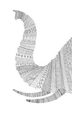 elephant zentangle