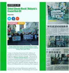 #climatechange #climatemarch #climatechange2015 #natureprotection News Global Climate March at Penang Malaysia by baskoro_founderccf