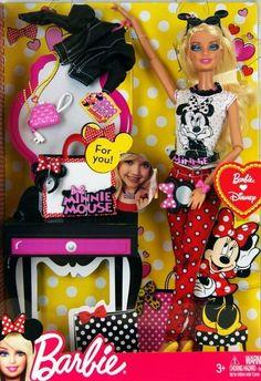 Barbie Doll and Minnie Mouse Love For you. Disney Barbie Dolls, Barbie Cartoon, Barbie Skipper, Barbie Toys, Beautiful Barbie Dolls, Barbie Dream, Jessie Doll, Minnie Mouse Doll, American Girl Furniture