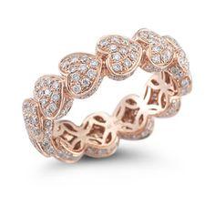 Diamond Heart Ring in Rose Gold
