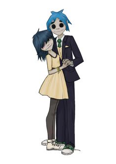 2D and Noodle - they look so cute together like they're going on a prom ! #2D+Noodle