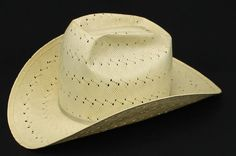 Vintage American Hat Co Ahco Coated Straw Cowboy Hat Golden Wheat Color 6 7  8  56ec7f6508ef