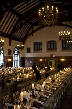 reminds me of the Hart House. Chapel Wedding, Chic Wedding, Dream Wedding, Wedding Bells, Fall Wedding, Wedding Flowers, Reception Table, Wedding Reception, Hart House