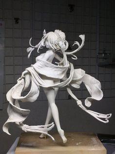 KAZ彦@原型師 (@kaz_honkytonk) | ทวิตเตอร์ 3d Figures, Anime Figures, 3d Character, Character Design, Gothic Dolls, Poses References, Cyberpunk Art, Sculpture Clay, Art Model