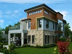 Modern small two story house plans modern small 2 storey house design small modern 3 story house plans Two Storey House Plans, Double Storey House, 2 Story House Design, Small House Design, Small Cottage Designs, 5 Bedroom House Plans, House Design Pictures, Build Your House, 3d Home