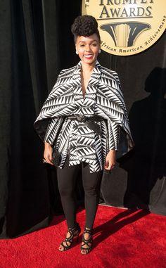 Janelle Monae Photos - Janelle Monae attends the Annual Trumpet Awards at Cobb Energy Performing Arts Center on January 2015 in Atlanta, Georgia. Black White Fashion, Work Wardrobe, White Wardrobe, Celebrity Look, Style Icons, Balmain, Fashion Forward, Celebs, Style Inspiration