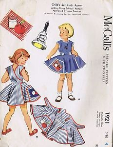 Girls Wrap Apron Dress Vintage Sewing Pattern 1921 McCalls Size 4 Breast 23 Cut | eBay