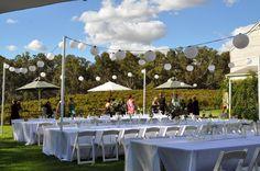 Outdoor wedding at St Leonards Vineyard