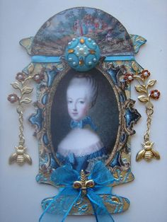 Urn Shaped Marie Antoinette Inspired Mixed Media by ArtfullyMusing