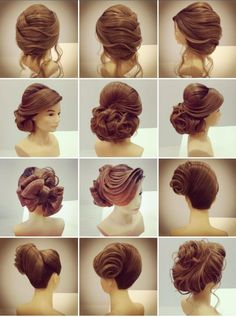 Pin by shi shi a la mode on all things hair! Dance Hairstyles, Retro Hairstyles, Formal Hairstyles, Bride Hairstyles, Peinado Updo, Chignon Updo, Medium Fine Hair, Pinterest Hair, Love Your Hair