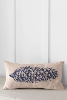 """LOVE THIS 12"""" x 24"""" Printed Pinecone Decorative Pillow Cover or Insert from Lands' End"""