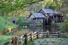 Mabry Mill is a watermill located on Blue Ridge Parkway Virginia. USA