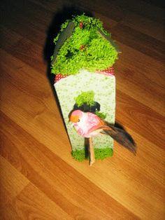 Bastelfee: Upcycling  Tetrapack - Vogelhäuser