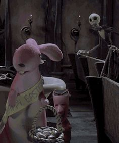 my gif gif jack skellington the nightmare before christmas disney disney gif duh easter easter bunny easter gif I totally forgot about this scene until this morning!