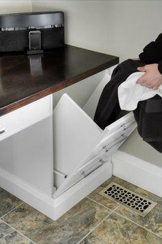 Laundry Chute Design - through floor of linen closet