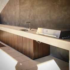 9 m bench top Outdoor Sheds, Outdoor Rooms, Outdoor Dining, Backyard Garden Design, Patio Design, Barbeque Design, Outdoor Bbq Kitchen, Shed Homes, Bbq Area