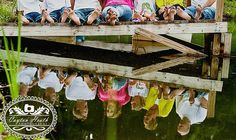 Creative Family Photography Large Family Pose on a dock with reflection Large Family Poses, Family Picture Poses, Family Photo Sessions, Family Posing, Family Portraits, Big Family, Picture Ideas, Photo Ideas, Large Families