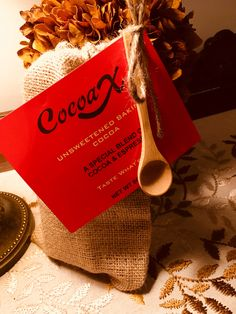 This cocoa includes espresso! Unsweetened Cocoa, Espresso, Baking, Tableware, Bread Making, Dinnerware, Patisserie, Backen, Dishes