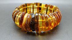 Genuine Natural Baltic Amber Multicolor Bracelet Lamella #Unbranded