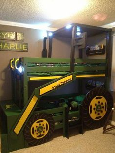 Boy's Room: John Deere tractor bunk bed