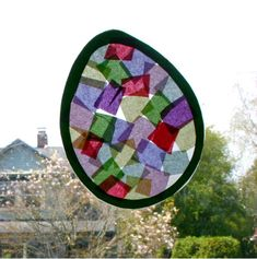 easter Art for Toddlers   Easter Arts and Crafts for Kids Idea: 'Stained Glass' Easter Eggs ...