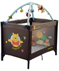 Cosatto Winnie the Pooh travel cot with bassinette Suitable from birth the Disney On The Move travel cot is lightweight and packed full of features including a toy bar and cot top changer.Features:- Complete with bassinette feature for smaller babies  http://www.comparestoreprices.co.uk/baby-cots-and-cot-beds/cosatto-winnie-the-pooh-travel-cot-with-bassinette.asp