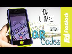 FlapJack Educational Resources: How to Create QR Codes with Text and free QR Code activities