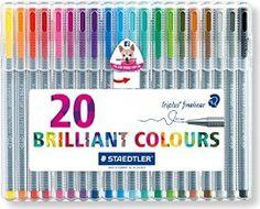 Staedtler 334SB20 - Estuche de 20 rotuladores Triplus Fineliner, colores surtidos