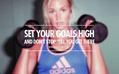 Set Your Goals High.    www.trimmedandtoned.com