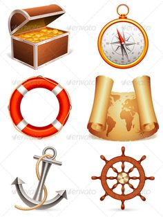 Realistic Graphic DOWNLOAD (.ai, .psd) :: http://sourcecodes.pro/pinterest-itmid-1005475867i.html ... Marine Icons ...  anchor, chest, coin, compass, equipment, gold, icon, illustration, map, marine, nautical, object, paper, ring-buoy, sailing, scroll, sea, symbol, treasure, vector, wheel, world  ... Realistic Photo Graphic Print Obejct Business Web Elements Illustration Design Templates ... DOWNLOAD :: http://sourcecodes.pro/pinterest-itmid-1005475867i.html