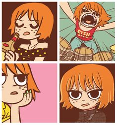 Kimberly. Scott Pilgrim Graphic novel by Bryan Lee O'Malley