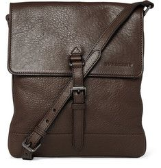 BURBERRY Textured Leather Messenger Bag. Must have item.
