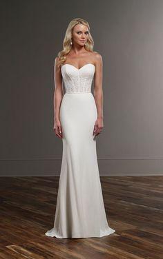 Cora+Sanja Modern Wedding Gown Separates by Martina Liana. Available at Sam Cox Bridalwear, Plymouth. 01752 28451.