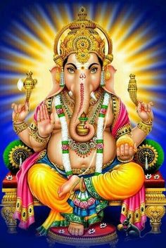 Make this Ganesha Chathurthi 2020 special with rituals and ceremonies. Lord Ganesha is a powerful god that removes Hurdles, grants Wealth, Knowledge & Wisdom. Arte Shiva, Shiva Art, Hindu Art, Shri Ganesh, Ganesh Lord, Hanuman, Ganesh Statue, Ganesha Pictures, Ganesh Images
