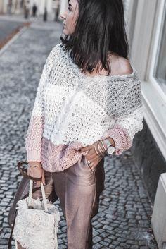 Crochet Jumper, Sweater Knitting Patterns, Knit Crochet, Dress Code, Mode Blog, Instagram Fashion, Knitwear, Sweaters For Women, Women Wear