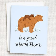 Mama Bear Mother's Day Card - Greeting Cards | Paper Source #mothersday #mothersdaygift #mothersdaycard #makemomsday
